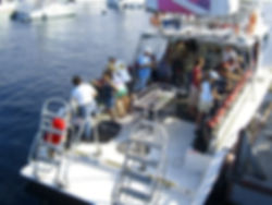 Scuba diving boat on Catalina