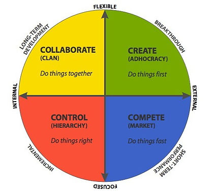 Cameron and Quinn's competing values framework (CVF)