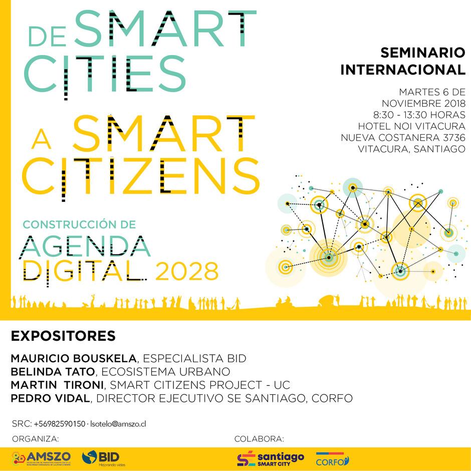 """Seminario internacional : """"De Smart Cities a Smart Citizens. Construcción de Agenda Digital 202"""