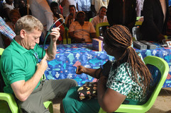 Dr. Matt (AIHWA Consultant Doctor, Family Medicine) during flag-off ceremony at AIHWA 2018 Medical Mission
