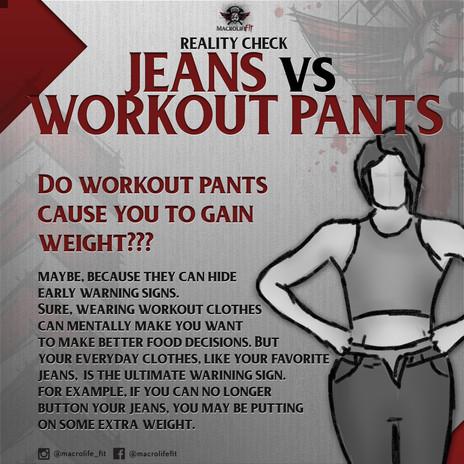Jeans vs Yoga Pants