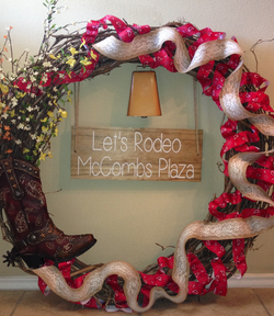 Red McCombs Rodeo Wreath
