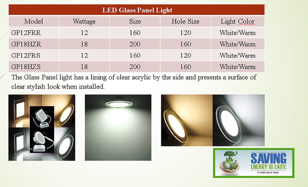 LED Glass Panel. Please contact Shop for orders