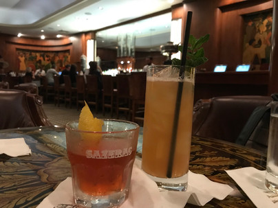 Sazerac and Brown Derby at the Sazerac bar