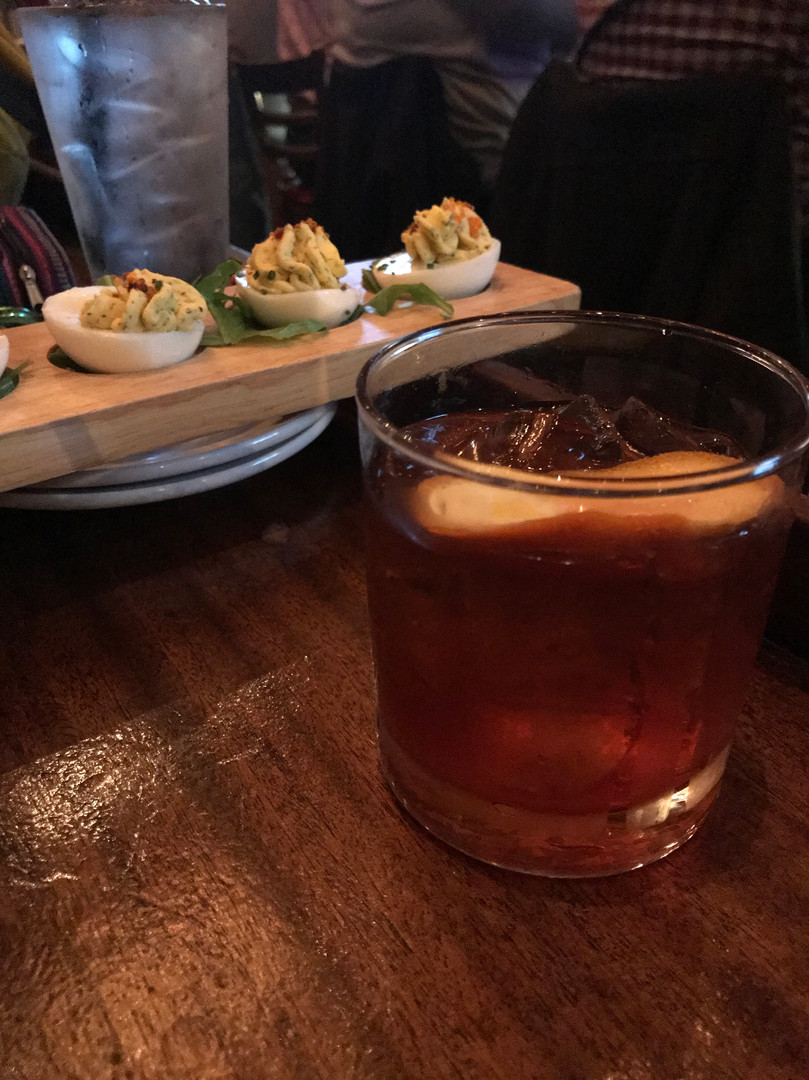 Old Fashioneds and Deviled Eggs -- the combo you didn't know you needed