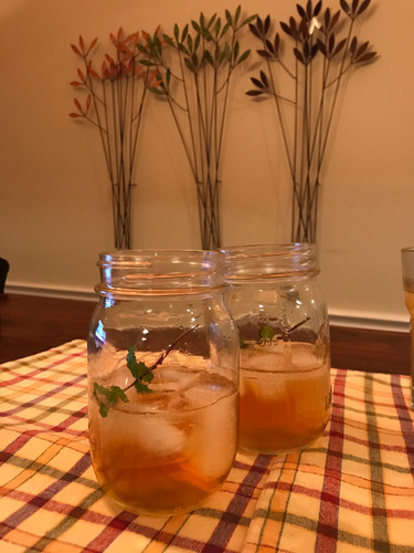 Our none-too-beautiful (but tasty!) version of mint juleps