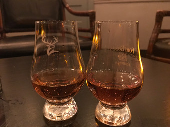 Redbreast on the right, Eagle Rare on the left