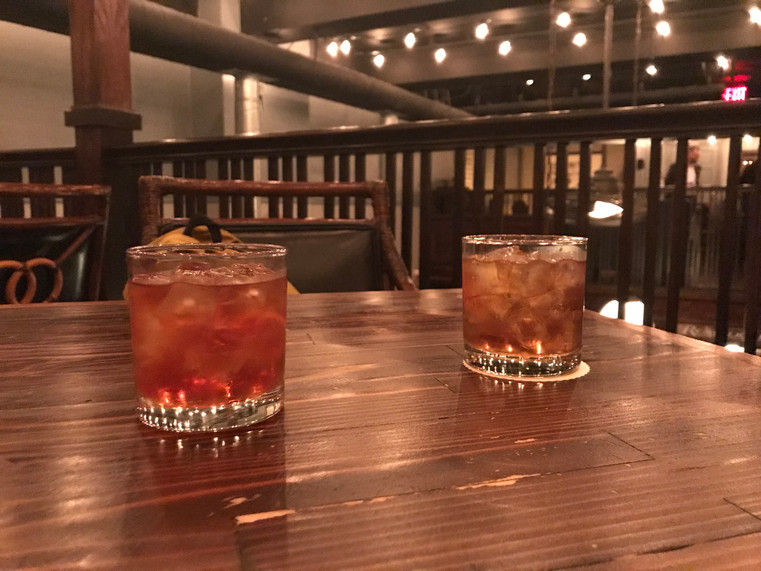 Bourbon Fashioned and Rum Fashioned