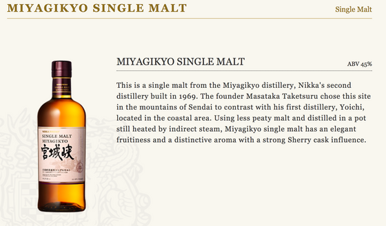 from the Nikka website