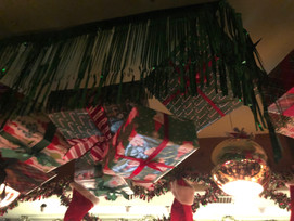presents on the ceiling