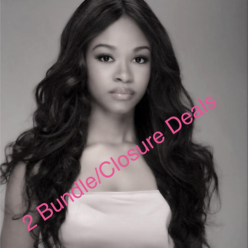 Bundle Deals- 1 Closure & 2 bundles
