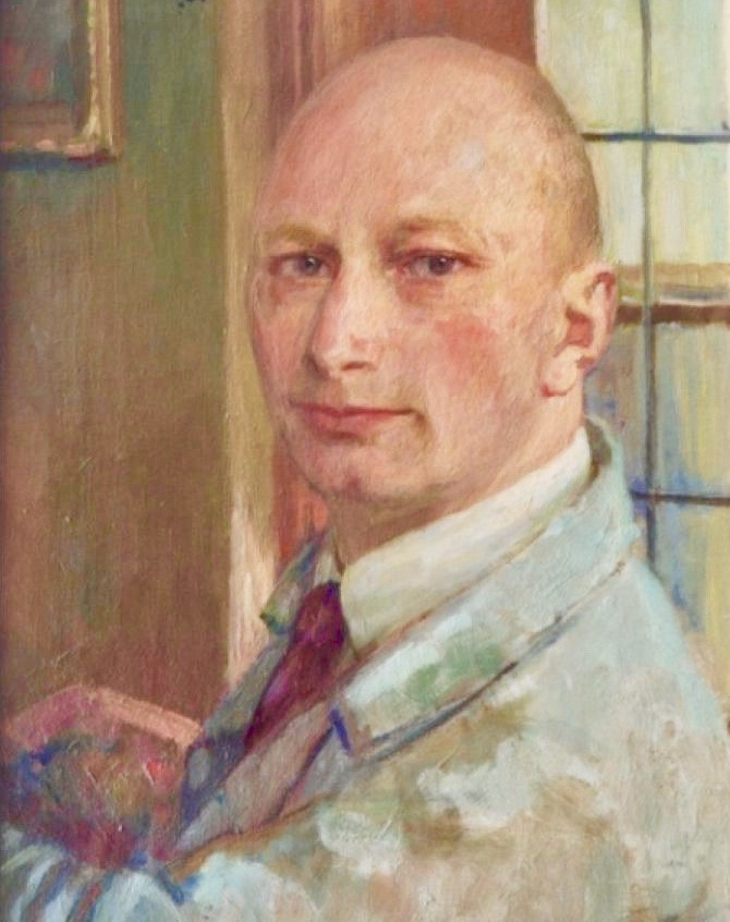 Zelfportret SImon de Heer, 1931