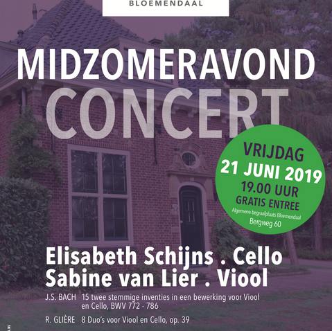 Poster concert Afscheidshuis Bloemendaal