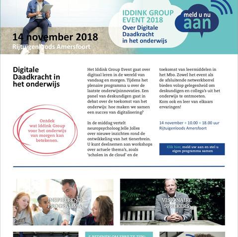 Website en nieuwsbrief IDDINK EVENT 2018