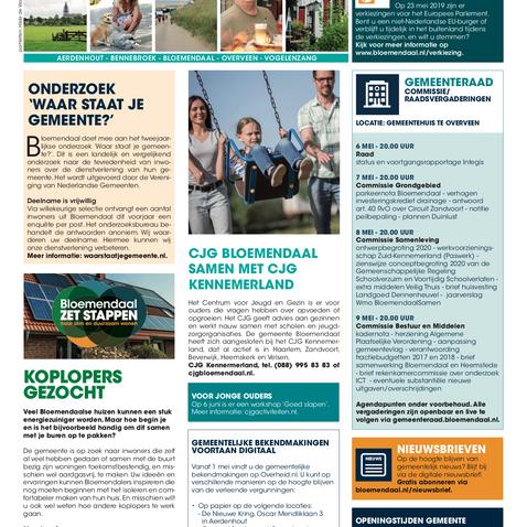 Nieuwspagina gemeente Bloemendal