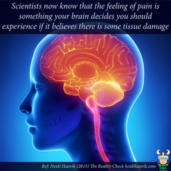 Your brain decides to experience pain.pn