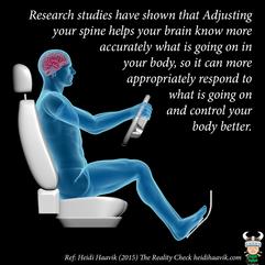 Adjusting can help your brain control yo