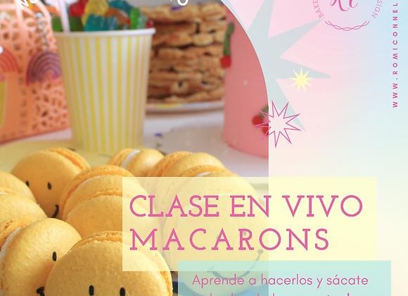 Clase en VIVO de Macarons!