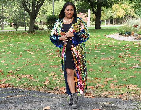 Multi-color Shimmer Kimono
