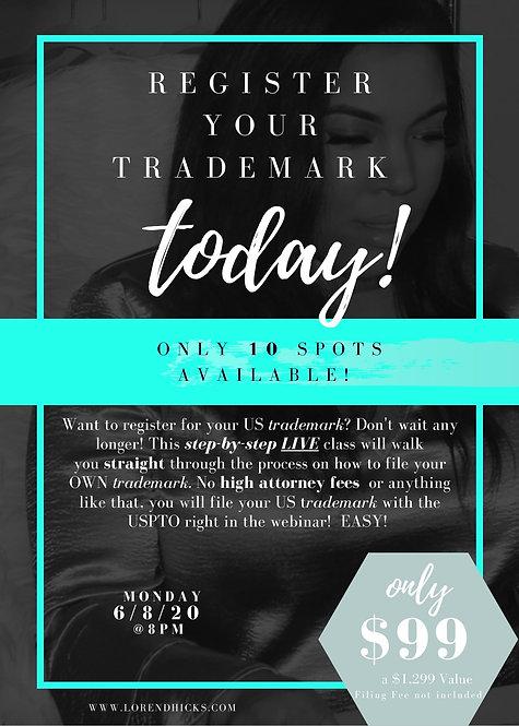Trademark LIVE class June 8, 2020