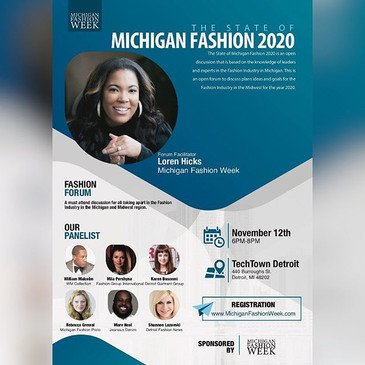 The State of Michigan Fashion 2020 is an