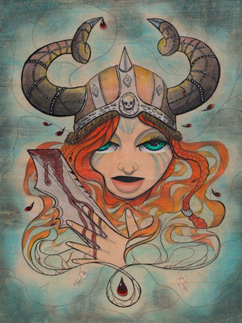 Red Sonja the Barbarian Sea Mini Print
