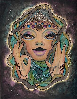 Anansi the Spider Goddess Mini Print