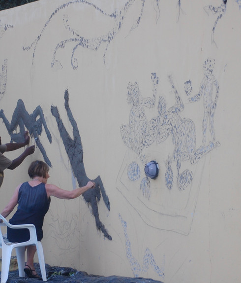 work in progress _mural_ with artists H&