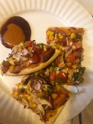 Vegetarian feast pizza