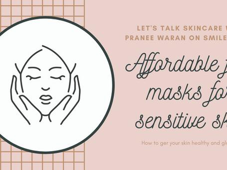 Affordable face masks for sensitive skin