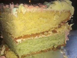 Double coloured birthday cake