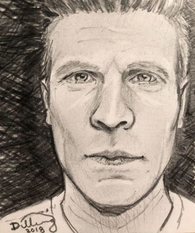 44 Self Portrait by Robert S Dilling