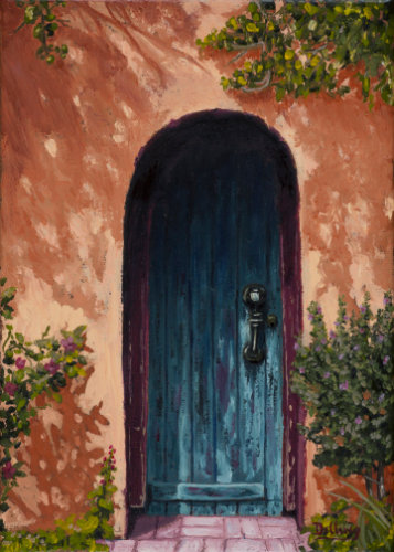 """""""Old Mesilla Arched Door"""" by Robert S Dilling"""