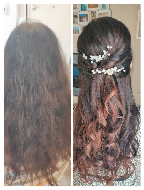 prima/ dopo capelli