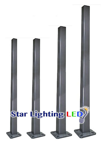 20-30 Ft. Square Steel Poles
