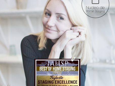 Co-fundadora do Núcleo é uma ameaça tripla no IAHSP® Best of Home Staging Awards 2020