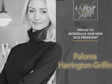 IAHSP® Europa anuncia nova Vice-Presidente