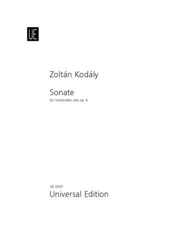 Kodály: Sonate op.8 für Violoncello Solo