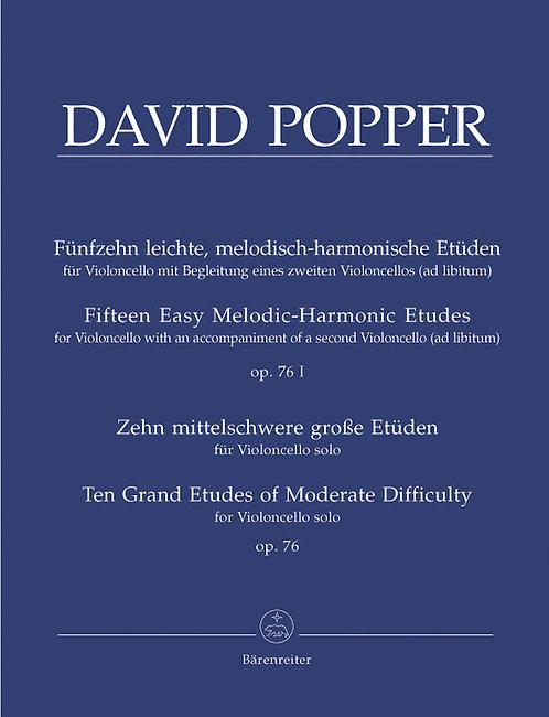 Popper: 15 leichte und 10 mittelschwere Etüden op. 76