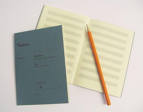 Notes klein: Merkheft für Noten und Notizen