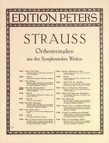 Orchesterstudien aus den Symphonischen Werken für Violoncello. Band 2
