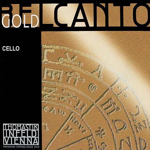 Thomastik Cello BELCANTO GOLD (Satz und Einzelsaiten)