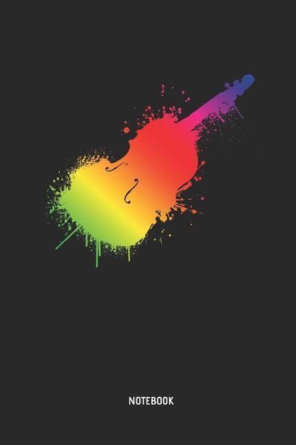 Cello Notebook: Rainbow Color Cello Journal 2