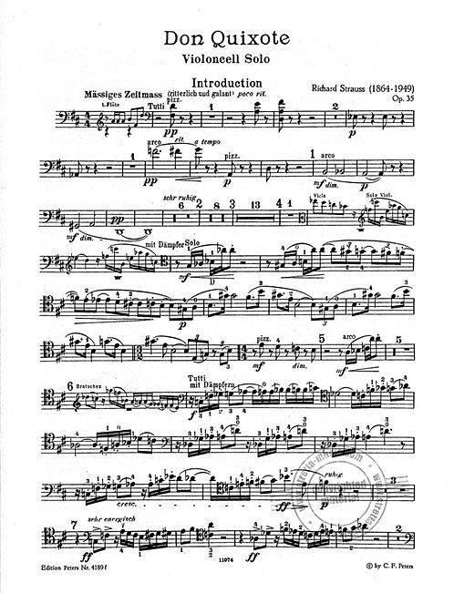 Don Quixote op. 35. Studienpartitur für Violoncello
