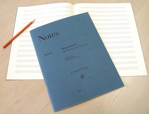 Notes gross: Skizzenbuch für Noten und Notizen
