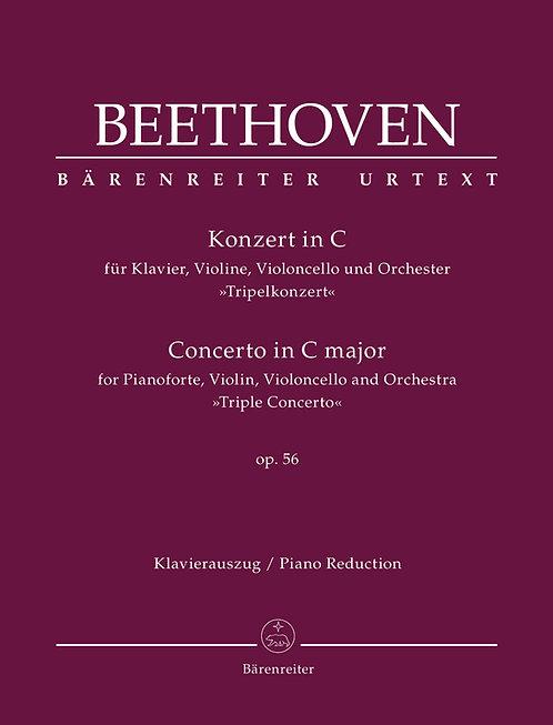 Beethoven: Tripelkonzert op. 56 - Urtextausgabe (Klavierauszug Stimmensatz)