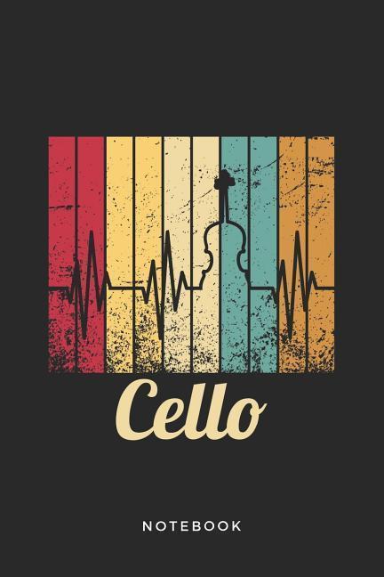 Violoncello Graphic Art Instrument Blank Line Cello Notebook