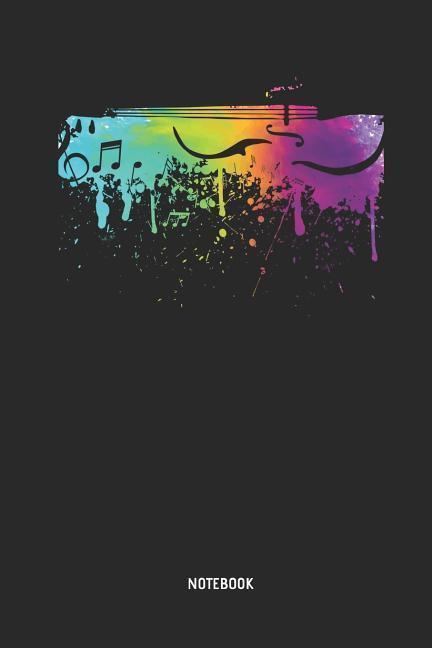 Cello Notebook: Rainbow Color Cello Journal 1