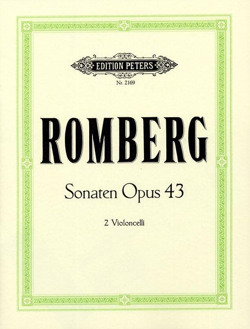 Sonaten für 2 Violoncelli op. 43 Nr. 1-3