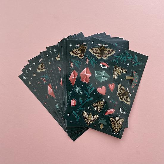 Moth Sticker Sheet